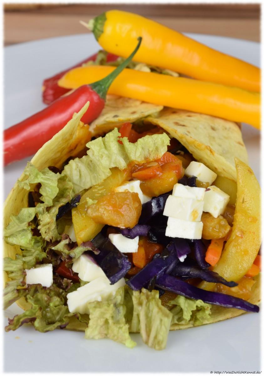 Vegetarische Wraps - TexMex Style - Was du nicht kennst...