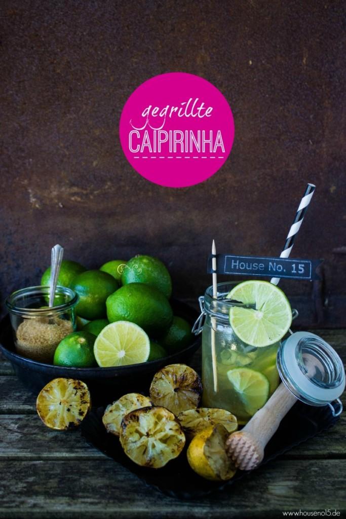 sommerliche Getränke: gegrillte Caipirinha