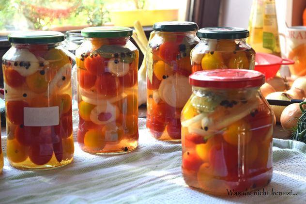 Tomaten süß-sauer eingelegt - Was du nicht kennst...