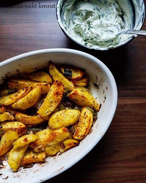 Ofenkartoffeln mit Dip - Was du nicht kennst...